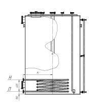 чертеж аппарата ВПП 1-4 со змеевиком