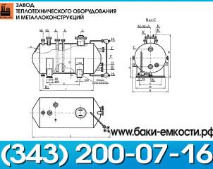 цельносварная емкость ГКК 1-1-80-0,07